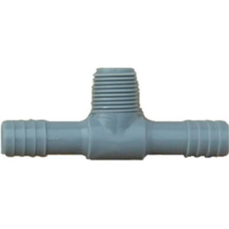 351445 0.5 in. Poly Male Pipe Thread Insert Tee
