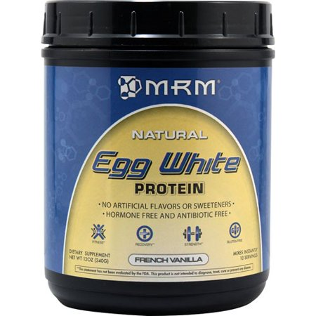 MRM All Natural Egg White Protein, French Vanilla, 12 (Best Egg White Protein Powder)