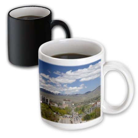 3dRose Cityscape of Boise, Idaho, USA - US13 DFR1157 - David R. Frazier, Magic Transforming Mug, 11oz