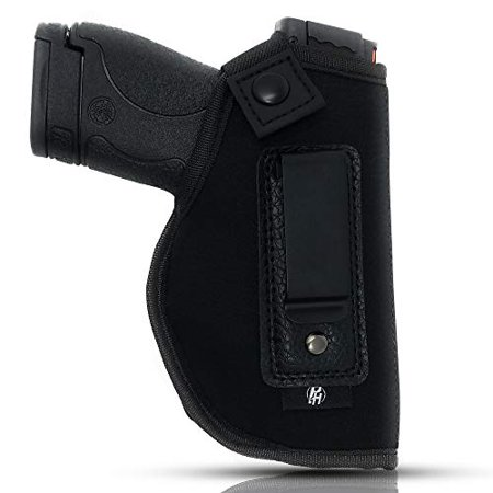IWB Gun Holster By PH - Concealed Carry Soft Material | Soft Interior | Fits MP Shield 9mm.40.45 Auto/ GLOCK 26 27 29 30 33 42 43/ Ruger LC9, LC380 | Taurus Slim Line, PT111 | Springfield XD (Armed Concealed)