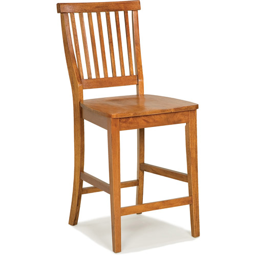 "Home Styles Wood Counter Stool 24"", Cottage Oak"