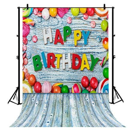 GCKG 7x5ft Happy Birthday Wooden Floor Polyester Photography Backdrop Studio Prop Photo Background - image 4 of 4