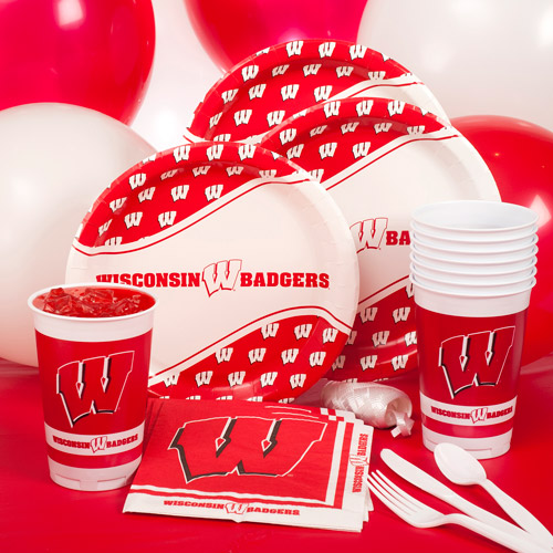 Wisconsin University Party Pack for 8