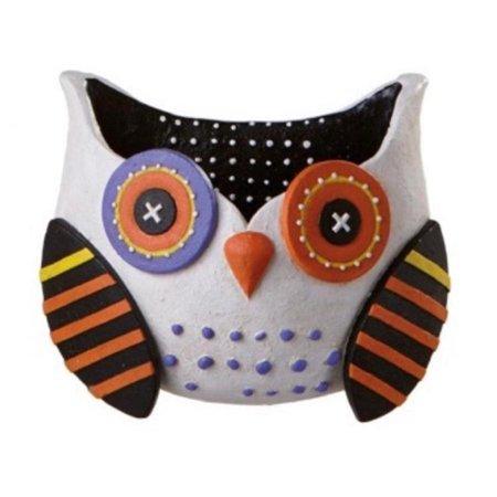 "10"" Whimsical White Owl Wall Pocket Halloween Decoration - image 1 of 1"