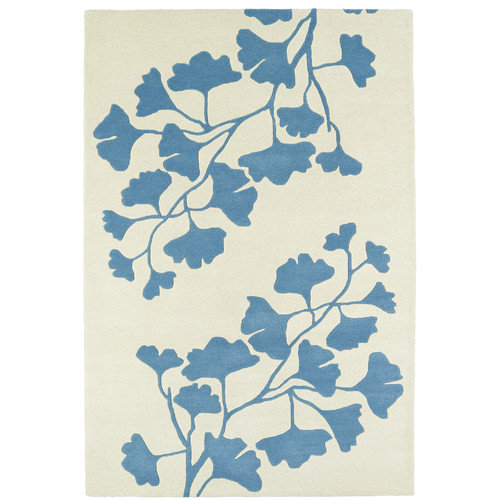 Kaleen Melange Hand-Tufted Light Blue / Ivory Area Rug
