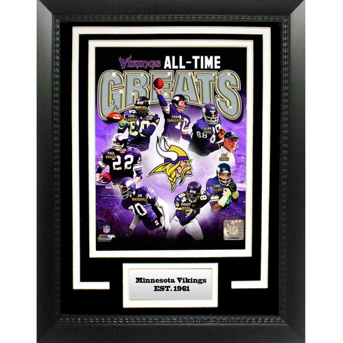 "NFL Minnesota Vikings Greats 11"" x 14"" Deluxe Frame"