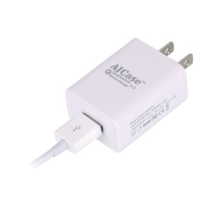 Quick Charge 3 0  Aicase  18W Turbo Wall Charger Adapter With Qualcomm Quick Charge 3 0   3Ft Cable For Galaxy S7   S7 Edge   S6  Ipad Air 2   Pro   Mini 3  Note 5  Lg G5  Nexus 6  Sony  Htc
