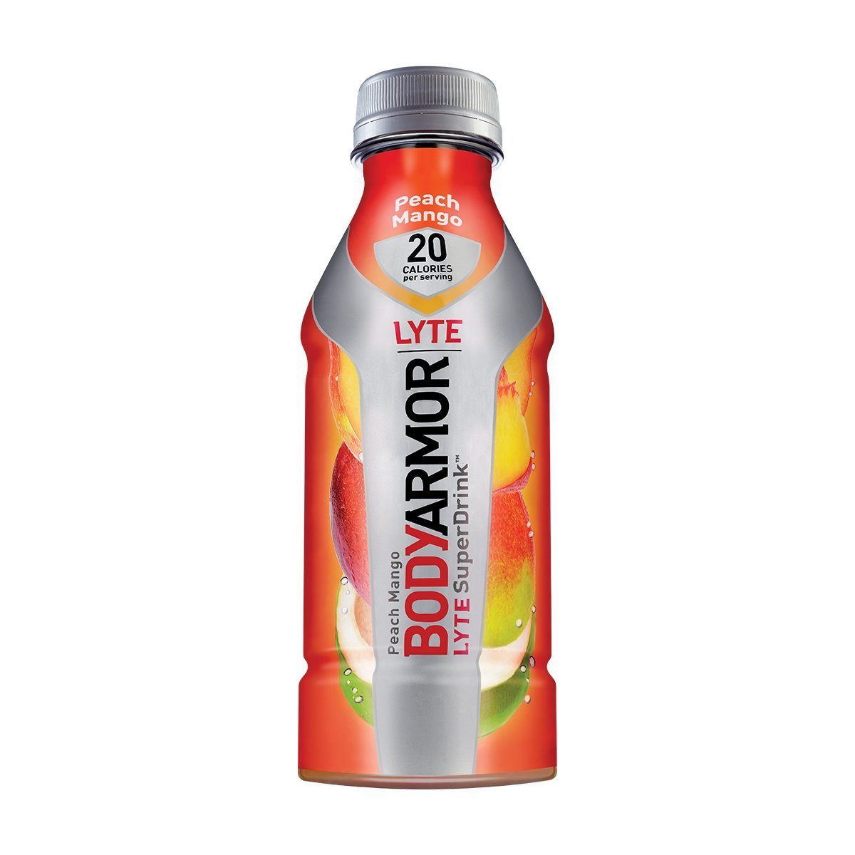 BodyArmor LYTE SuperDrink, Electrolyte Sport Drink, Peach Mango 16 Oz (Pack of 48)