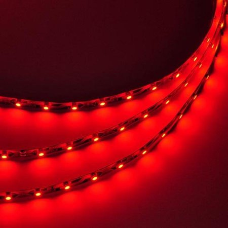 LEDwholesalers 16.4 Feet (5 Meter) Flexible LED Light Strip with 300xSMD3528 and Adhesive Back, 12 Volt, Red, 2026RD