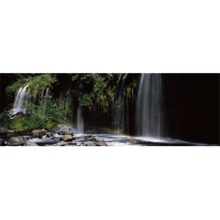 Panoramic Images PPI118876L Rainbow formed in front of waterfall in a forest  near Dunsmuir  California  USA Poster Print by Panoramic Images - 36 x 12 - image 1 of 1