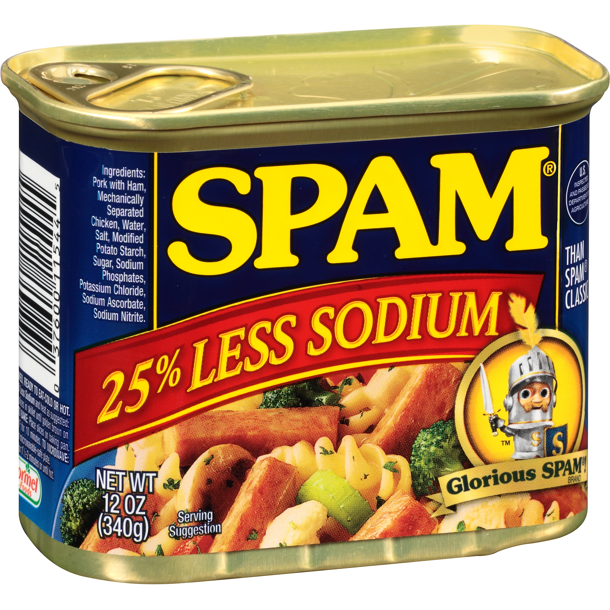 Spam 25% Less Sodium Canned Meat, 12 oz