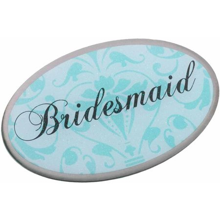 Bridesmaid Pin, Oval Aqua