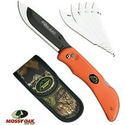 "OUTDOOR EDGE RAZOR PRO FOLDER 3.5"" 420J2 STAINLESS RAZOR/ZIPPER ORANGE"