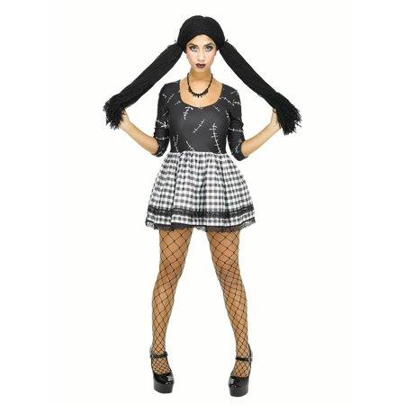 Broken Doll Costume Women Dead Doll Dress for Halloween Cosplay - Broken Doll Dress