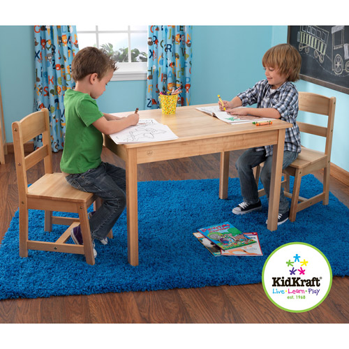 KidKraft Rectangle Table and Chairs Set, Natural