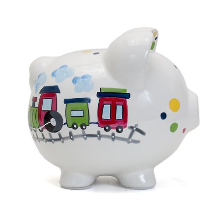 Child To Cherish - Large Piggy Bank - Choo Choo Transportation