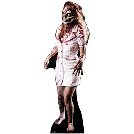 Advanced Graphics 1381 69 in. x 24 in. Zombie Nurse Cardboard Cutout Standee Standup Haunted Halloween Horror