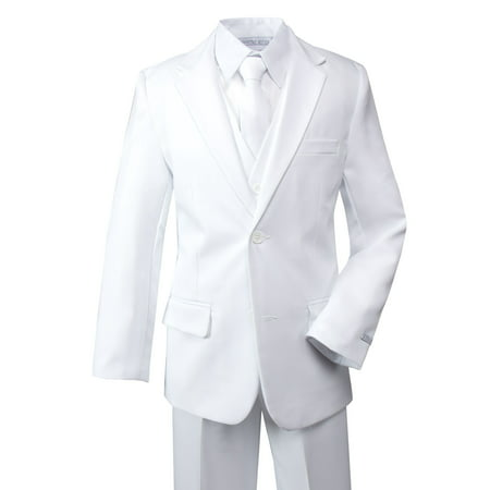 Spring Notion Boys' Modern Fit Dress Suit Set White](Boys Wool Suits)