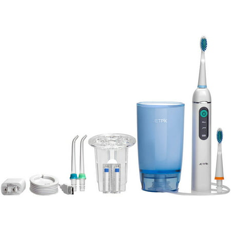 Jetpik JP200 Home Rechargeable Electric Dental Flosser With Pulsating Floss, Water Jet Power and Sonic