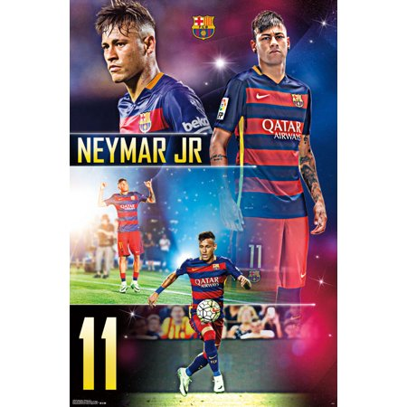 Trends International FC Barcelona Neymar Jr Wall Poster 22.375