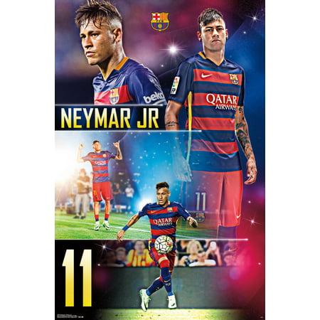 37d8703d0 Trends International FC Barcelona Neymar Jr Wall Poster 22.375