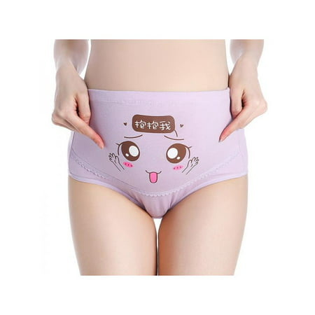 Cotton Maternity Panties (Topumt Cute Lady Women's Adjustable Underpants Cotton Pregnant Panties High Waist Maternity Underwear)