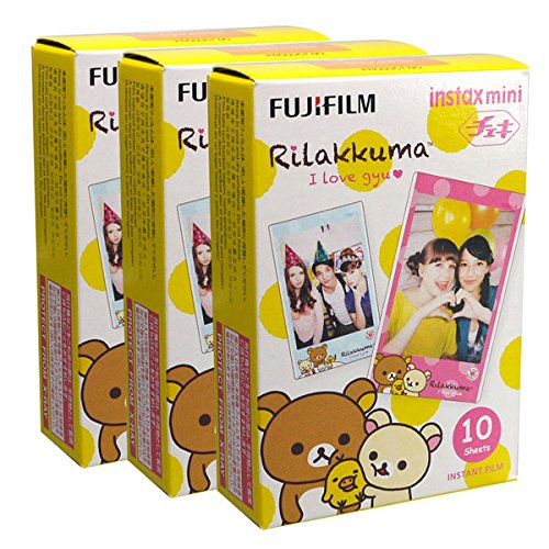Fujifilm Instax Mini Rilakkuma Gyu 30 Film for Fuji 7s 8 25 50s 90 300 Instant Camera, Share SP-1