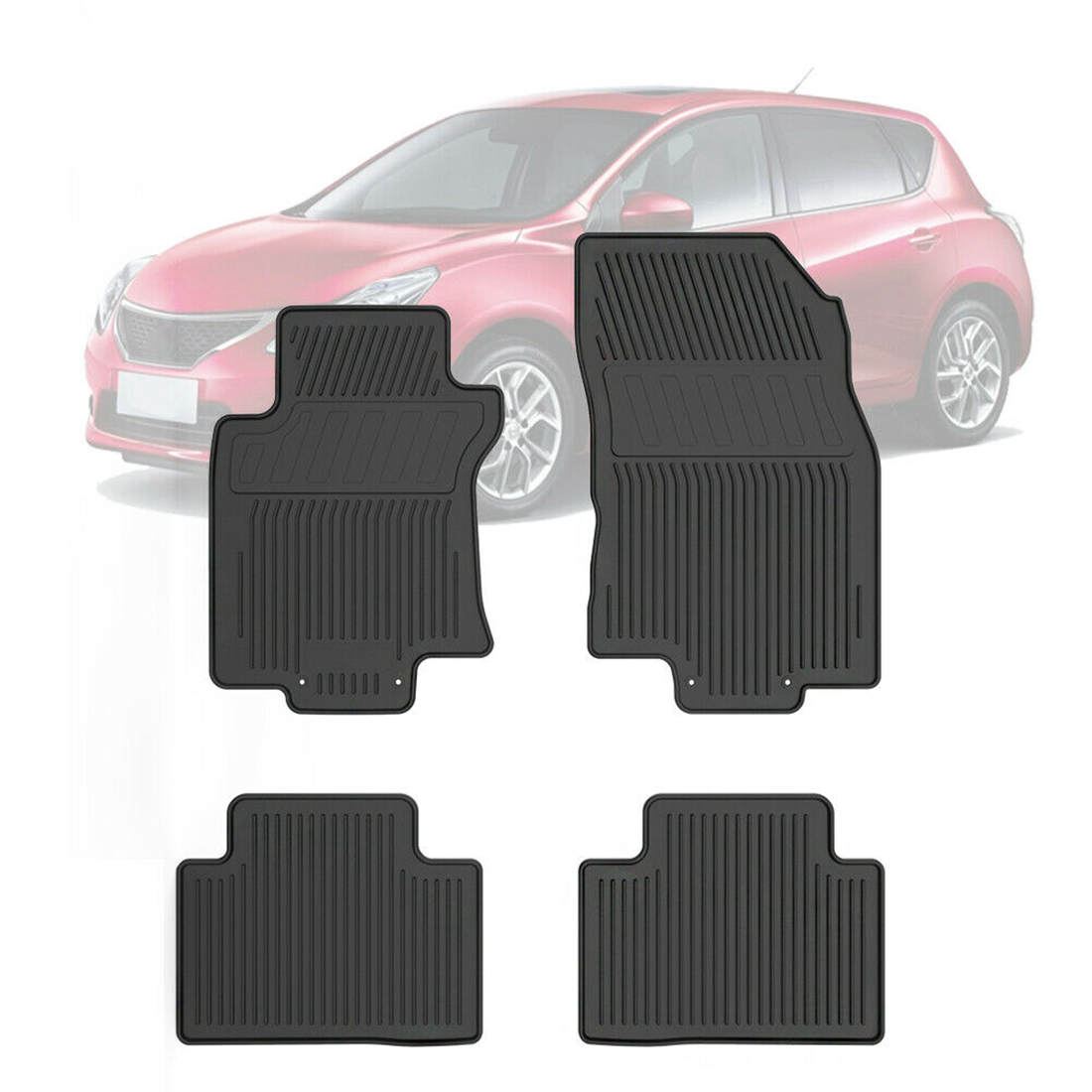Car Floor Mats for 2014-2018 Nissan Rogue 4-Piece All Weather Rubber Front  Rear Liners