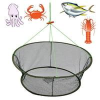"1-Pack 61.5x85cm/24x33"" Large Foldable Fishing Fishing Net Trap Bait Net Trap Cast Dip Net Cage Crab Fish Minnow Crawdad Shrimp"