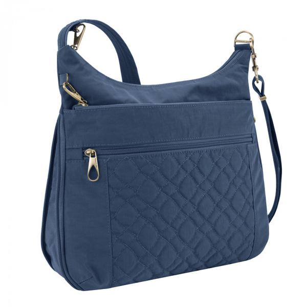 Travelon Anti-Theft Signature Quilted Expansion Crossbody Ocean