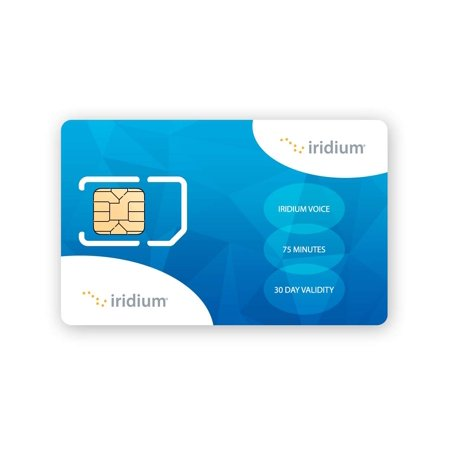 - Iridium Satellite Phone Global Prepaid SIM Card with 75 Minutes (60 Day Validity)
