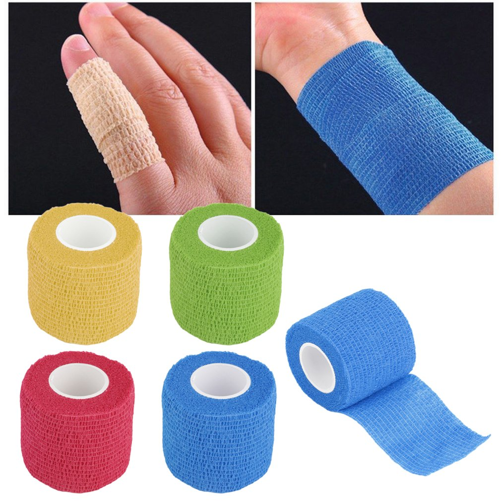 5cm*4.5m Non Woven Fabric Self-Adhering Bandage Wraps Elastic Adhesive First Aid Tape Stretch Elbow & Knee Pads