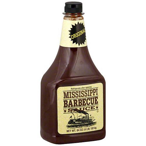 Mississippi Barbecue Sauce Original BBQ Sauce, 64 oz (Pack of 9)