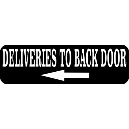 Delivery Bank - 10in x 3in Left Arrow Deliveries to Back Door Magnet