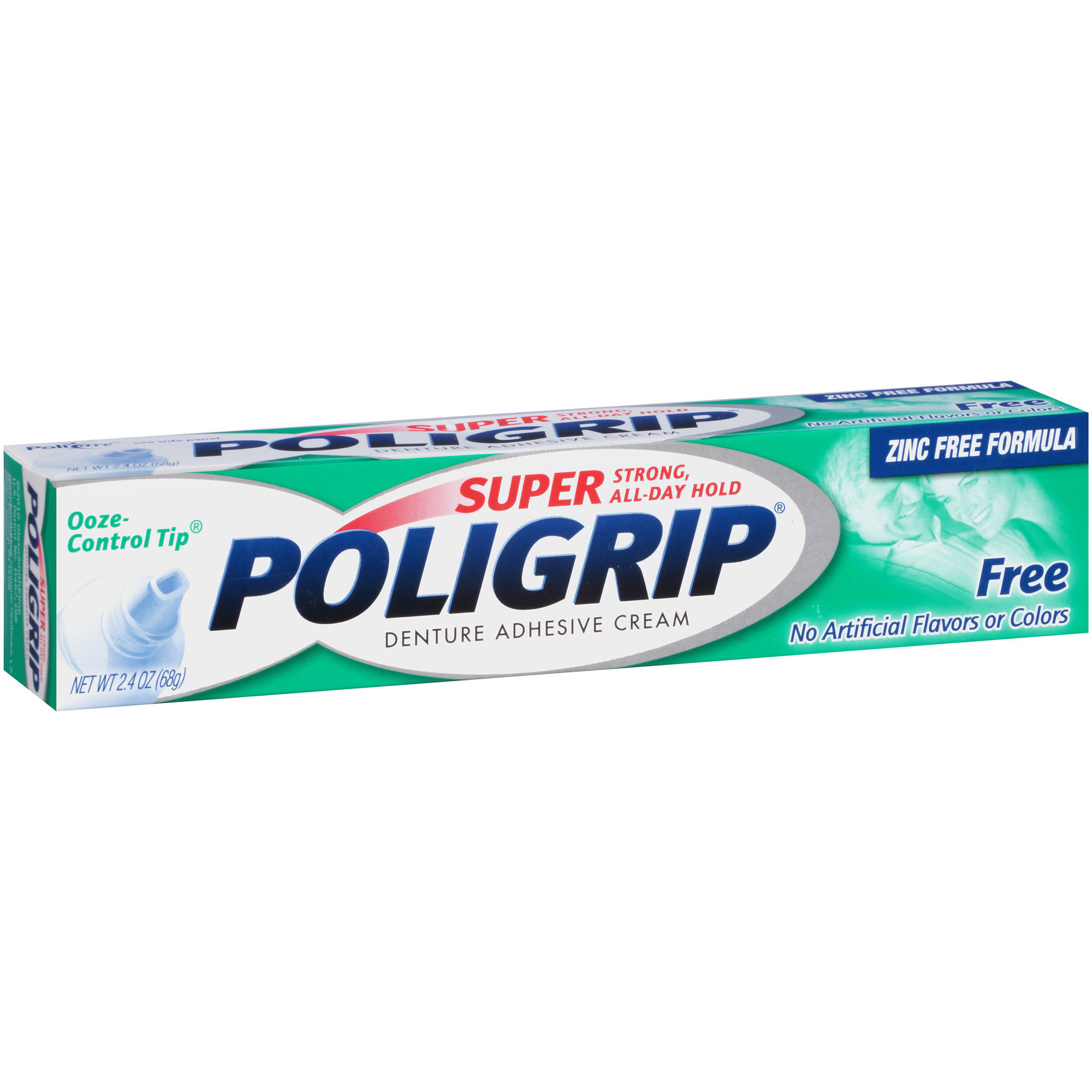 Super Poligrip Free Denture Adhesive Cream 2.4 Oz