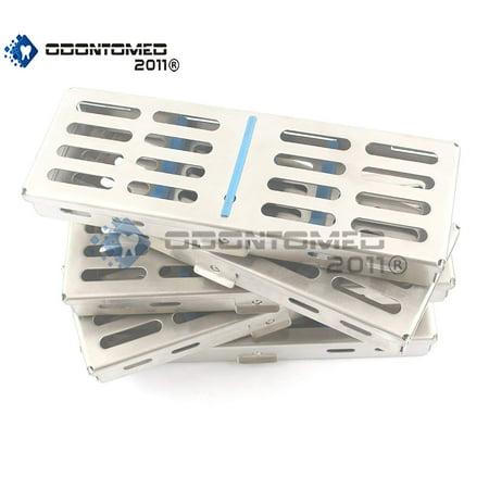 Odontomed2011® New Set Of 5 Each German Grade Dental Autoclave Sterilization Cassette Rack Box Tray For 5 Instruments Odm (Instrument Sterilization Container)