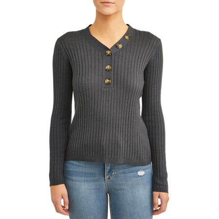 Willow & Wind Women's Asymmetric Button Front Sweater Button Front Sweater