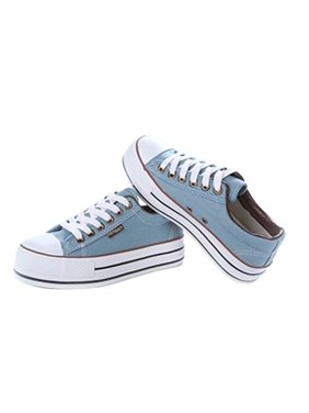 Comfortable Design RenBen Women Young Girls Casual Shoes Fashionable Summer  Rubber Sole Canvas Shoes Platform Shoes. OUTAD b9f6bacaa260