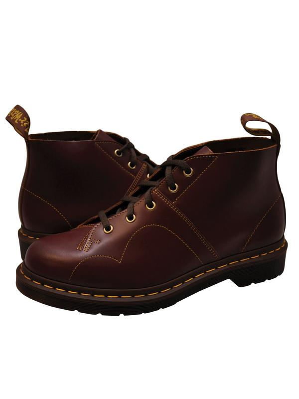 Dr. Martens Church Men's Shoes Leather Monkey Boots 16054601 Oxblood by Dr. Martens