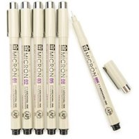 6-Pack Sakura Pigma Micron Ink Pen Set