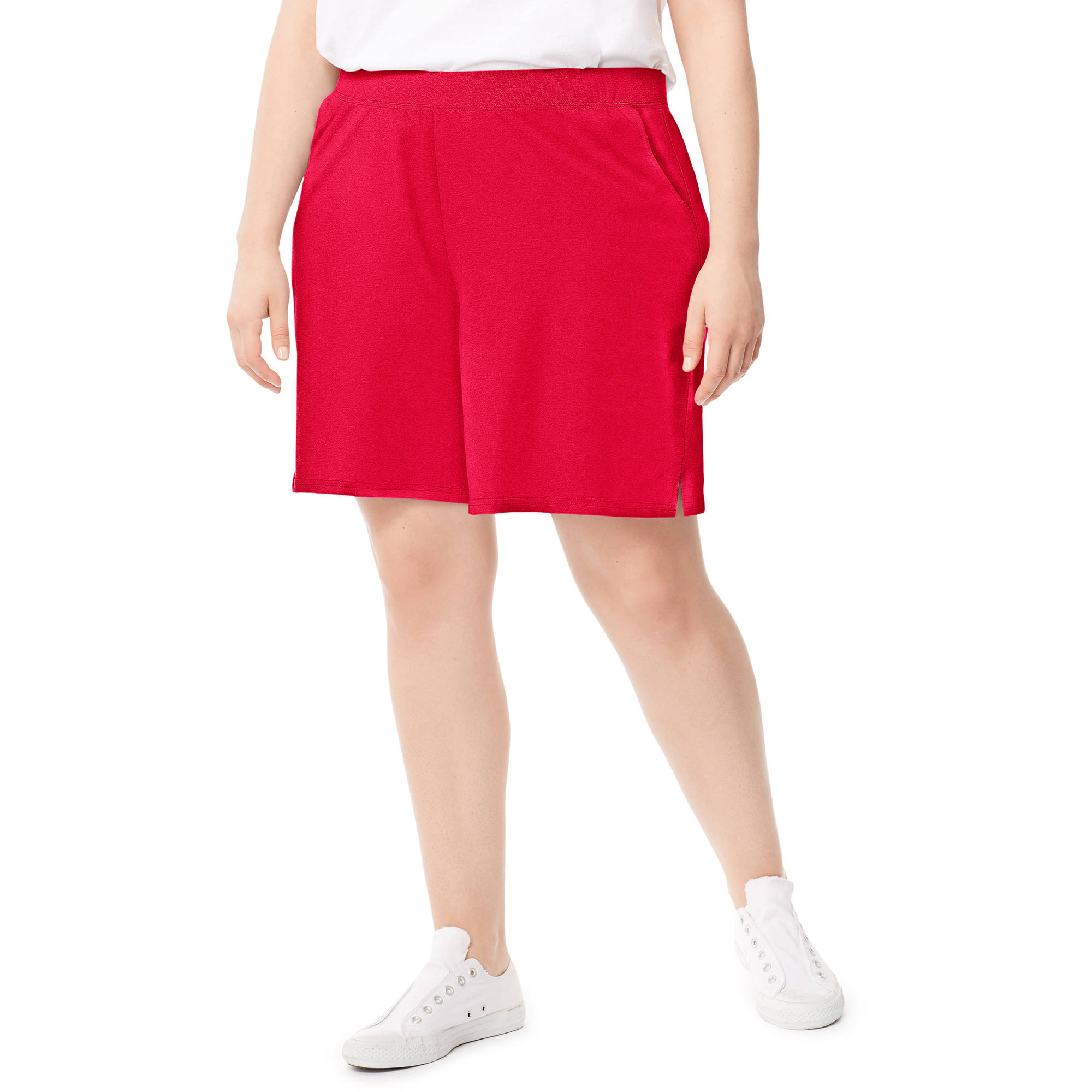 Just My Size by Hanes Women's Plus-Size Cotton Jersey Pocket Shorts