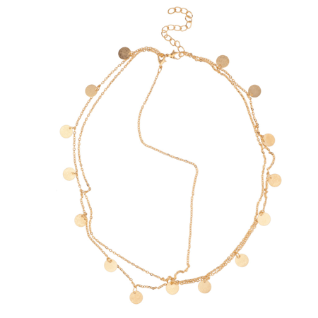 Lux Accessories Tribal Headchain Disc Circle Head Chain Link](Head Chain Jewelry)