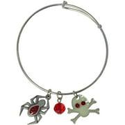 Spider and Skull Halloween Charm Bracelet