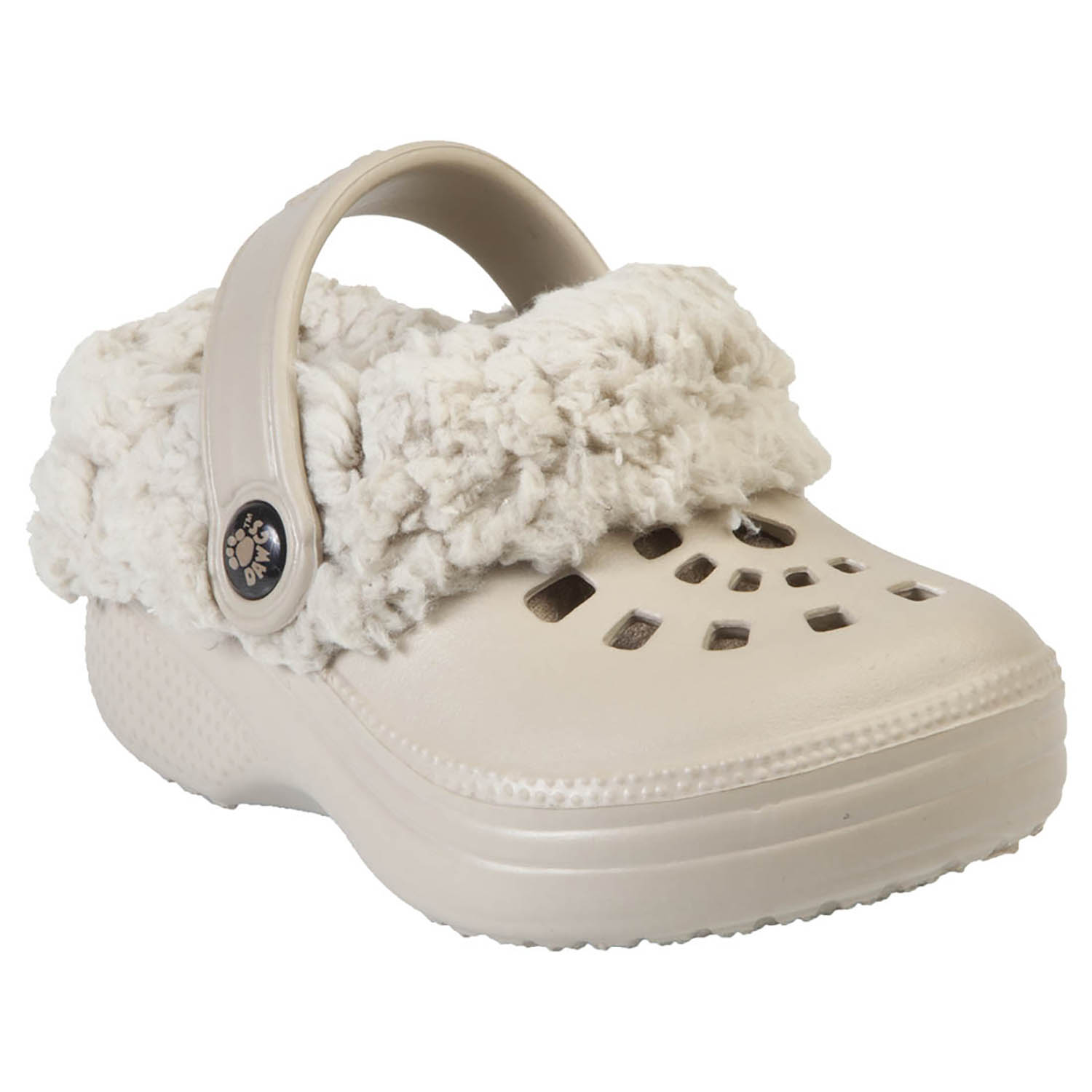 Toddler FleeceDawgs Clogs - Tan with Tan 7-8