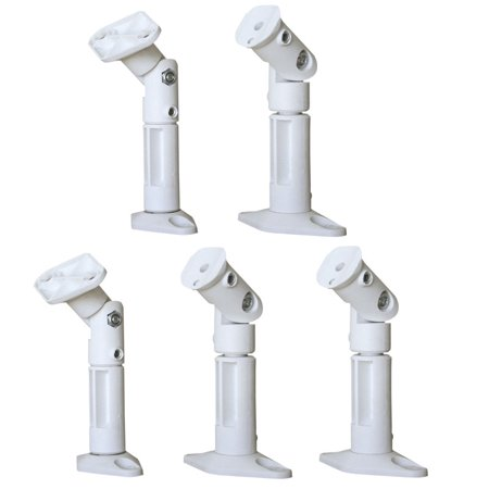 - VideoSecu 5 Packs of Ceiling and Wall Speaker Mount Satellite Surround Sound Home Theater Brackets White 1Y0