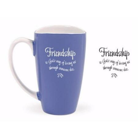 James Lawrence 70908 Mug - Tulip Top - Friendship is Gods Way, 15 oz
