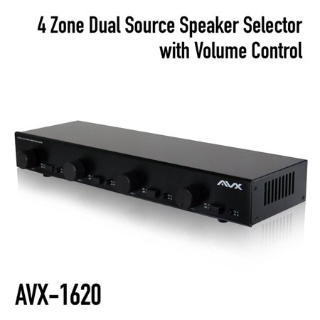 4 Zone Dual Source Speaker selector with volume control