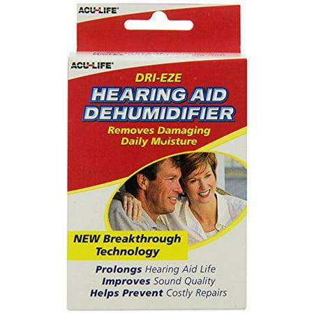 2 Pack - Acu-Life Dri-Eze Hearing Aid Dehumidifier 1 Each ()