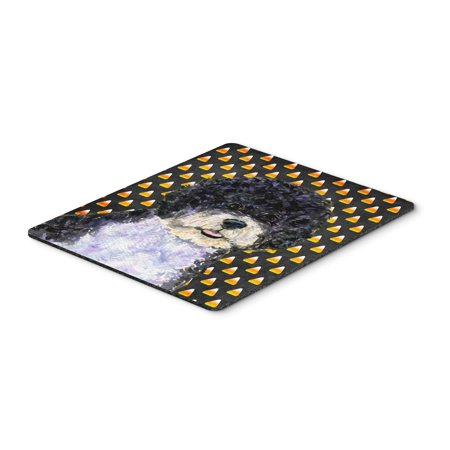 Portuguese Water Dog Candy Corn Halloween Portrait Mouse Pad, Hot Pad or Trivet