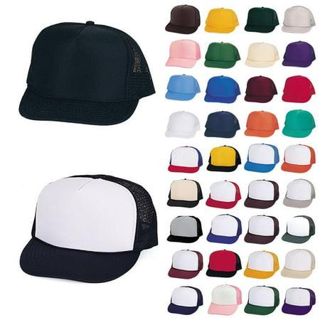 ef06125a7 10 Dozen (120 Hats) Lot Trucker Baseball Hats Caps Foam Mesh Blank Adult  Youth Kids Wholesale Bulk